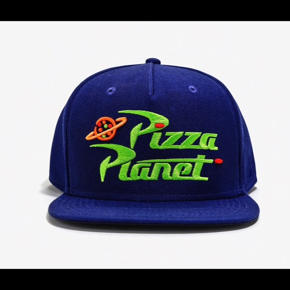 Disney Pixar Toy Story Pizza Planet Delivery Delivery Adjustable Baseball Snapback Cap Hat Red